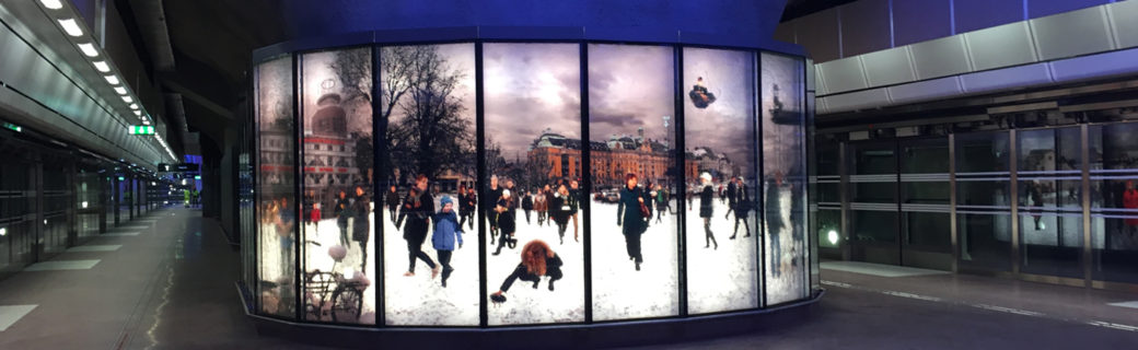 Citybanan satsar på UV-printad glaskonst