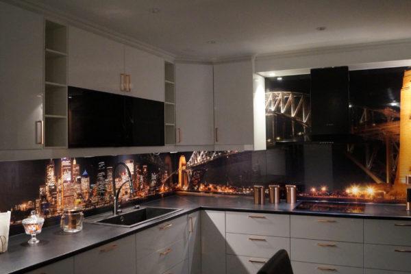 Manhattans skyskrapor lyfte kök