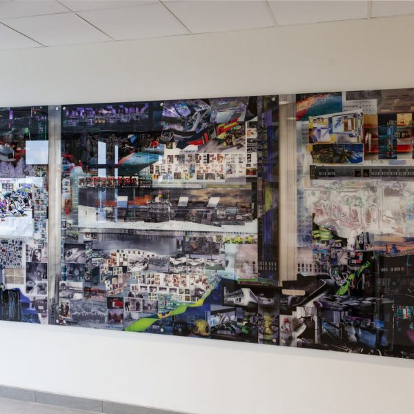 Art in public building created by David Molander. Tierp fire station is decorated