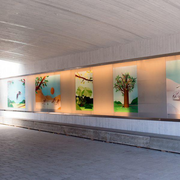 Printglas tunnel Uppsala